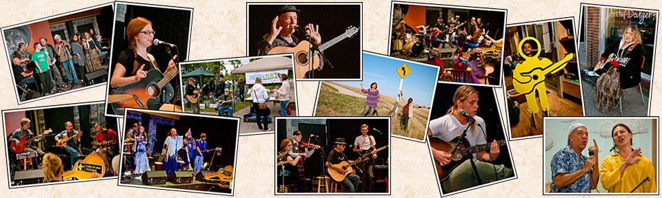 Blue Sky collage of activities
